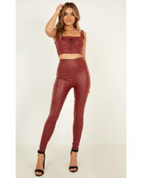 Showpo Fall Back Two Piece Set - Red