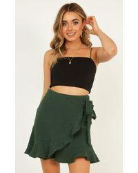 Showpo Over And Under Skirt - Green
