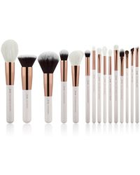 Showpo Makeup Brush Set In White And Rose Gold - 15 Pc
