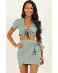 Showpo Gather Your Things Two Piece Set - Green