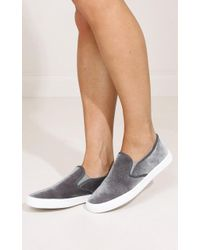 Showpo - Qupid- Ryian In Grey Velvet - Lyst