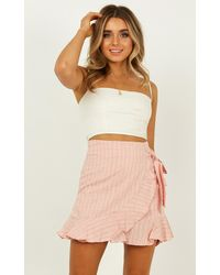 Showpo Over And Under Skirt - Pink