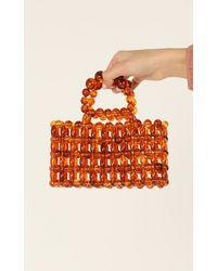 Showpo Figured It Out Beaded Bag - Orange