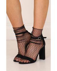 Showpo - Sasha Socks In Black - Lyst