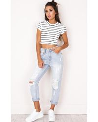 Showpo - Annabel Jeans In Light Wash - Lyst