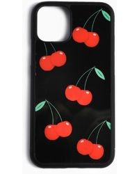 Showpo Cherries Iphone Case - Black