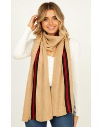 Showpo Shake It Off Scarf - Natural
