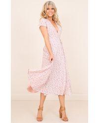 Showpo - Falling Deeply Dress In Pink Floral - Lyst