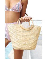 Showpo - Long Weekend Bag In Natural - Lyst