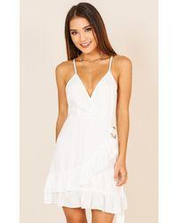 461b098dd7 Missguided Roksy Mint Lace Plunge Cut Out Dress in Blue - Lyst