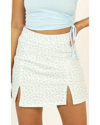 Showpo It All Matters Skirt - Blue