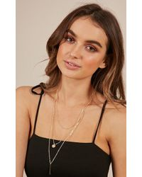 Showpo - Where Are You Now Necklace In Gold - Lyst