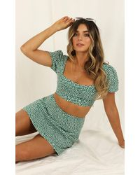 Showpo Are You Up To It Two Piece Set - Green