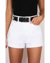Showpo - Another Life Shorts In White - Lyst