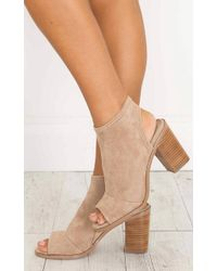 Showpo - Therapy Shoes - Volente In Camel - Lyst