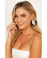 Showpo - Straight Forward Earrings - Lyst