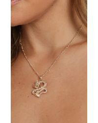Showpo Cool Vibes Serpent Necklace - Metallic