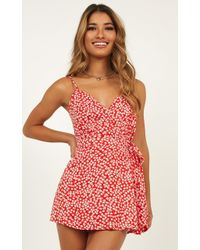 Showpo Call It Like It Is Playsuit - Red