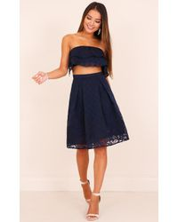 Showpo - Twilight Hour Two Piece Set In Navy - Lyst