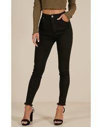 Showpo - Got Time Jeans In Black - Lyst