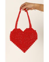 Showpo Will We Talk Beaded Bag - Red