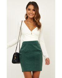 Showpo Chase The Sun Skirt - Green