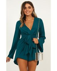 Showpo Holiday Romance Playsuit - Green