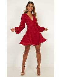 Showpo Thankful For The Women Dress - Red