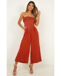 Showpo The Way You Laugh Jumpsuit - Red