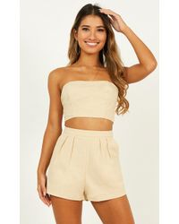 Showpo Did You Mean It Two Piece Set - Natural
