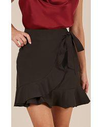 Showpo Over And Under Skirt - Black