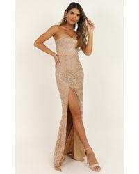 Showpo Say Its Not So Dress - Metallic