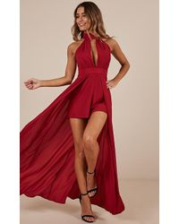 Showpo Dont Rain On My Parade Playsuit - Red