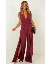 Showpo Striking Out Jumpsuit - Red