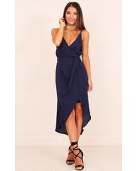Showpo - One More Night Dress In Navy - Lyst