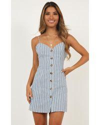 Showpo Thermal Spring Dress - Blue