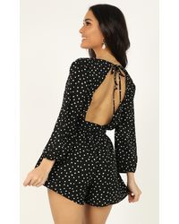 Showpo - More Or Less Playsuit - Lyst
