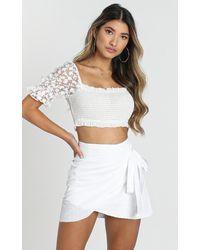 Showpo Not Happening Skirt - White