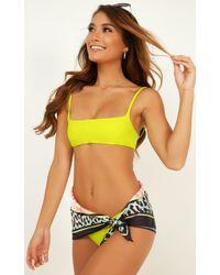 306e2be2fc99a Showpo Inez Bikini Set In Frost Metallic - Lyst