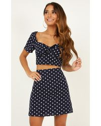 Showpo Right By My Side Two Piece Set - Blue