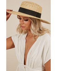 Showpo The Fireball Hat In Sand - Natural