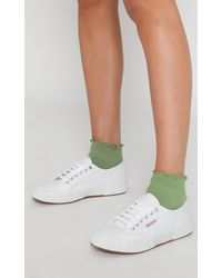 Showpo Simple Mind Ruffle Socks - Green