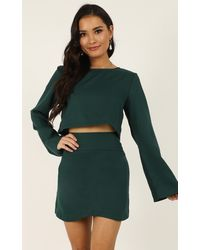Showpo Cut To The Feeling Two Piece Set - Green