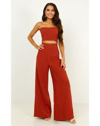 Showpo Real Me Two Piece Set - Red