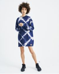 Aries Navy Bleached Argyle Dress - Blue