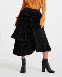 Noir Kei Ninomiya High Waisted Skirt - Black