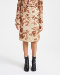 Kwaidan Editions Quilted Wrap Skirt - Beige - Natural