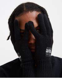 Raf Simons Knitted Gloves - Black