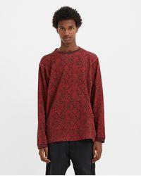 White Mountaineering Python Printed Sweatshirt - Burgundy - Red