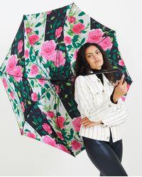Richard Quinn 30inch Printed Umbrella - Black